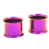 Purple Titanium Double Flared Tunnel Plugs (12g-1)