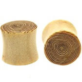 "Crocodile Wood Etched Tree Rings Ear Plugs (0g-1"")"