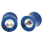 "Blue Titanium/Steel 2 in 1 Screw Tunnels (0g-1"")"