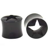"Buffalo Horn Star Center Tunnels Ear Plugs (2g-1"")"