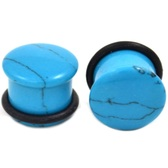 Turquoise Stone Single Flared Ear Plugs (6g-5/8)
