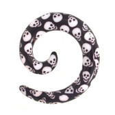 Spooky Skull Print Acrylic Spiral Tapers (8g-00g)