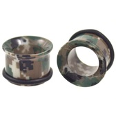 "Green Digital Camo Single Flared Plugs (2g-1"")"