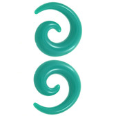 Vibrant Teal Acrylic Spiral Tapers (8g-00g)