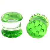 Reversible Green Pyrex Glass Honeycomb Plugs