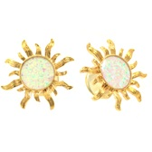 "Gold Plated Fiery Sun Double Flared Plugs (2g-5/8"")"