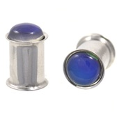 "Color Changing Mood Stone Double Flared Plugs (4g-5/8"")"