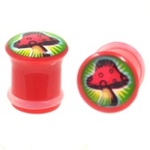 "Magic Mushroom Single Flared Plugs (2g-5/8"")"