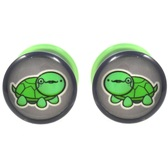 "Dignified Turtle Single Flared Plugs (2g-5/8"")"