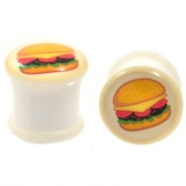 "The Cheeseburger Single Flared Plugs (2g-5/8"")"