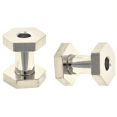 "Stainless Steel Hexagon Screw Tunnels (6g-1/2"")"