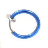 Vibrant Blue Snap On Fake Septum Piercing Hoop