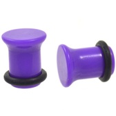 "Purple Single Flared Solid Acrylic Plugs (10g-1"")"