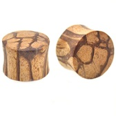 "Organic Root Wood Saddle Plugs (2g-1"")"
