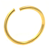 Gold Plated Bendable Nose Hoop 20G