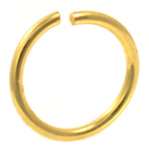 Gold Plated Bendable Nose Ring Hoop 18G