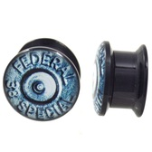 "38 Special Bullet Logo Acrylic Plugs (2g-1"")"