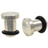 Stainless Steel Flat Head Plugs (14g-0g)
