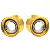 "Removable Steel Center Gold IP Tunnels (00g-1"")"