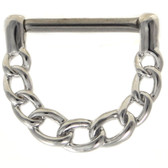 Chain Links Steel Nipple Clicker 14g 1/2""