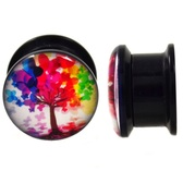 "Butterfly Tree Acrylic Screw Plugs (6g-5/8"")"