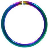 Rainbow Plated Bendable Nose Ring Hoop 18G