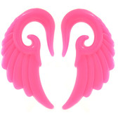 """Pink Angel Wing Acrylic Tapers (8g-1/2"""")"""