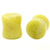 "Lemon N Lime Stone Double Flared Plugs (8g-1"")"