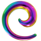 Rainbow IP Steel Hollow Spiral Tapers (8g-00g)