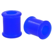 "Blue Double Flared Silicone Tunnels (6g-7/8"")"