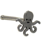 Octopus Top Steel Nose Ring Stud 20G