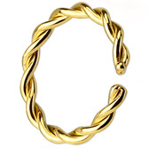 Bendable Gold-Tone IP Twisted Nose Hoop (20g-14g)