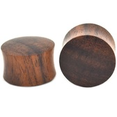 "Brown Rosewood Solid Saddle Plugs (2g-1"")"