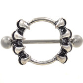 PAIR - Wicked Claw Nipple Shield Barbells 14g 7/8""