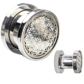 "Flower of Life Top Screw Fit Steel Tunnels (2g-1"")"