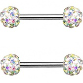 PAIR - AB Ferido Ball Nipple Barbells 14G 9/16""