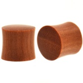 "Solid Saba Wood Organic Saddle Plugs (6g-1"")"