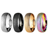 Sand Blast Style Classic Steel Ring (Size 5-13)