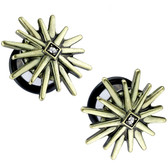 "Tribal Sunburst Single Flared Plugs (2g-5/8"")"