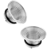 """Steel Spring Coil Single Flared Plugs (2g-5/8"""")"""