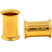 7mm (1G) Gold-Tone Steel Double Flared Tunnels
