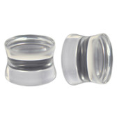 "Clear Solid Acrylic See Through Plugs (10g-1"")"