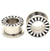 "Black and White Striped Rim Steel Tunnels (2g-5/8"")"