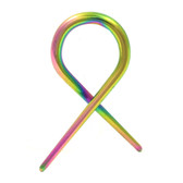 Rainbow Titanium Twisted Tapers Expanders (16g-10g)