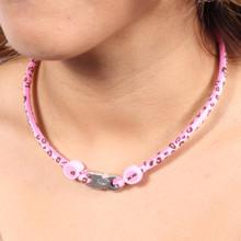 Pink Leopard Titanium Necklace
