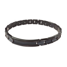 Pure Black Titanium Bracelet [w/ Plate]