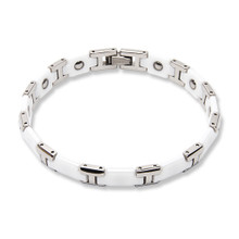 Ceramic Titanium Bracelet White