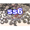Rhinestones | SS06/2.0mm | Hotfix Rhinestone/Black Diamond | 25 Gross