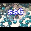 Rhinestones   SS06/2.0mm   Blue Zircon   05 Gross