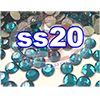Rhinestones | SS20/5.0mm | Blue Zircon | 100 Gross